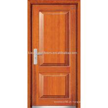 Porta blindada (JKD-232) forte de madeira porta de aço de segurança Exterior