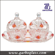 Colored 3PCS Glass Candy Pot Set (TZ-GB1718MI-P2)