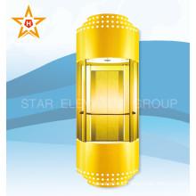 Vidrio de color dorado Panorámico 13, 10, Ascensor de pasajeros de 8 personas