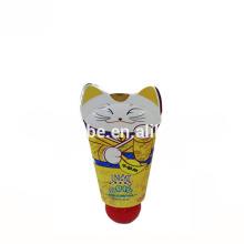 embalagens de cosméticos bebê bonito reciclado compacto tubo de plástico para o creme de lavagem do rosto