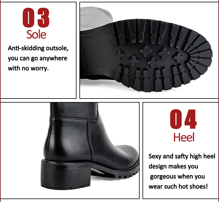 black real leather hot sale women boots