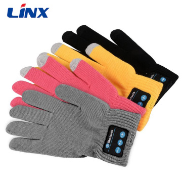 Touch Screen Knit Bluetooth Gloves Headset for Smartphone