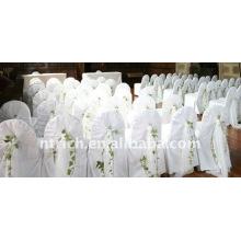 Couverture de chaise de banquet standard, CT022 polyester matière, durable et facile lavable