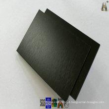 Painel de alumínio escovado preto para revestimento de parede