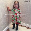 Venta al por mayor 3 4 5 6 7 años de edad vestido de niña para Navidad 2017 Baby Girl Party Dress diseños de vestidos de niños