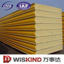 Panel de sándwich de poliuretano Material de construcción para el taller de estructura de acero