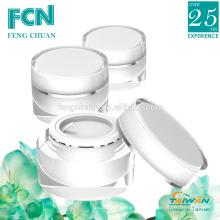 Qualidade de acrílico plástico jar cosmético 15ml 20ml 30ml 50ml 100ml