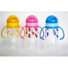 Wholesale 380ml Slide Lid Design Child Bottle, PP Drinking Bottle With Straw and Handle