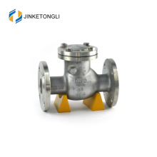 JKTLPC039 non slam spring cast steel flanged ball lift check valve