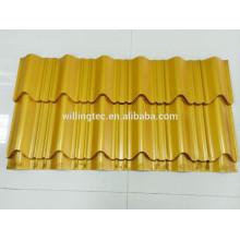 Azulejo de aço corrugado revestido de cor de longevidade para telhado e parede