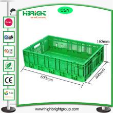 Contenedor de contenedores de plástico plegables de almacenamiento