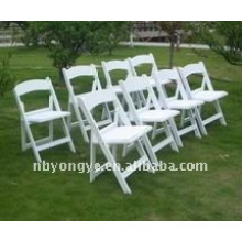 white Outdoor Resin Folding Chair