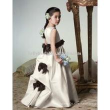 black bowknot sash children dresses girls party dresses