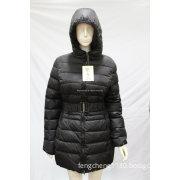 2014 New Design Ladies Long Overcoat Duck Down and Cotton Winter Coat (AH-0193)
