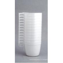 Tasse à café en U en plastique avec poignée 6oz / 180 ml