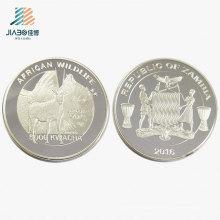 Moneda de plata de calidad superior del regalo del recuerdo del metal del logotipo para la promoción conmemorativa