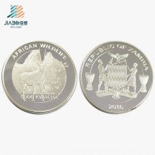 Top Quality Custom Silver Logo Metal Souvenir Gift Coin for Commemorative Promotion