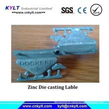 Zinc Die Casting label