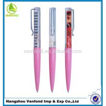 Caneta de plástico preenchido líquido 3D Floater bola caneta promocional de alta qualidade