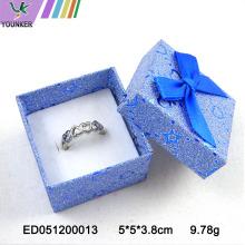 Glitter Ring Box Cutome Logo with Ribbon Bows