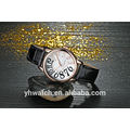 Waterproof Unisex Lady Leather Wrist Watches For Stainless Steel