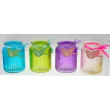 New Design Glass Jar with Ribbon