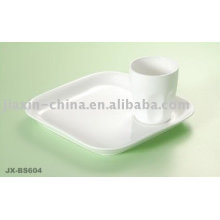 White color porcelain breakfast set JX-BS604