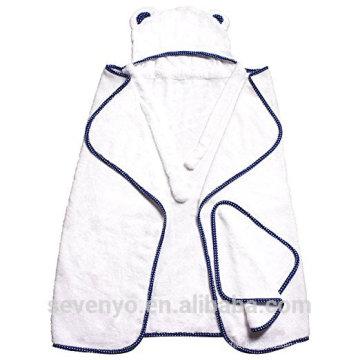 100% bamboo extra soft baby Hooded towel super fluffy premium baby bath towel --Mr Bear