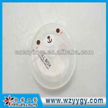 Oso lindo del OEM en forma pastillero de plástico portátil para niños
