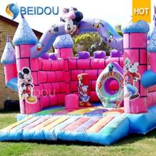 Gorila inflable animosa congelada de salto de Mickey Mouse popular durable del castillo
