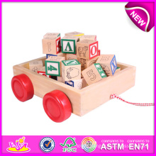Hot New Product for 2015 Kids Wooden Block Toy, Wooden Toy Building Block, Educational Toy Wooden Block Car Toy W13c018