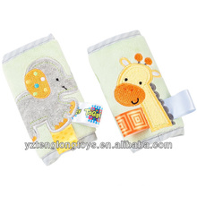 china wholesale animal design embroidery plush safety belt cover
