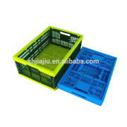 Reusable plastic foldable crates and containers