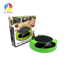 Funny Cute Cat Toys Cat Scratch Pad With Mouse Chaser Kitty Scratcher Round Play