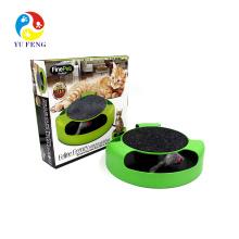 Gato Gatinho Catch The Mouse Pelúcia Brinquedo Em Movimento Coçar Garra Cuidados Mat Jogar Brinquedo
