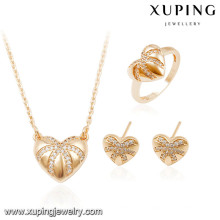 64041 Xuping gold plated dubai artificial kundan bridal jewellery sets