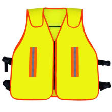 High Visibility Safety Vest, Closed with Zipper