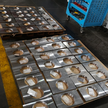 Finish Machining Support Plate of Trunnion Ball Valve