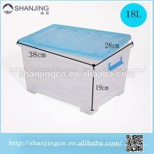 caixa de armazenamento plástica feita sob encomenda da caixa plástica do armazenamento da multi finalidade com rodas e punho