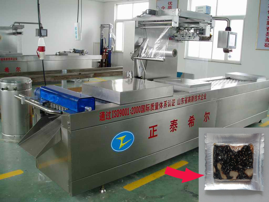 Automatic Continuous Stretch Film Packaging Machine