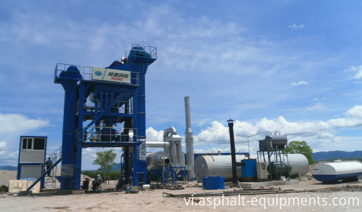Stationary asphalt mixers