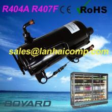 R407F R404A CE ROHS cuartito frío CONGELADOR compresor de la refrigeración 3 hp para la exhibición del congelador para helado