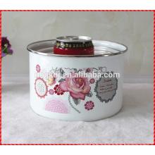 enamel high cream ice bowl set & custom enamel ice bowl