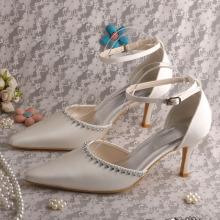 Spitz Hochzeitskleid Sandalen mit Knöchelriemen