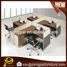 MDF melamine popular modern four seater office partition design