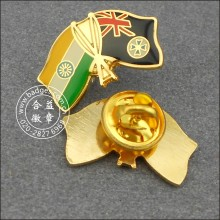 Indian and New Zealand Flag Lapel Pin Badge (GZHY-LP-004)