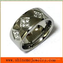 Anillo de dedo de la joyería del cuerpo de la manera del acero inoxidable Czr2528