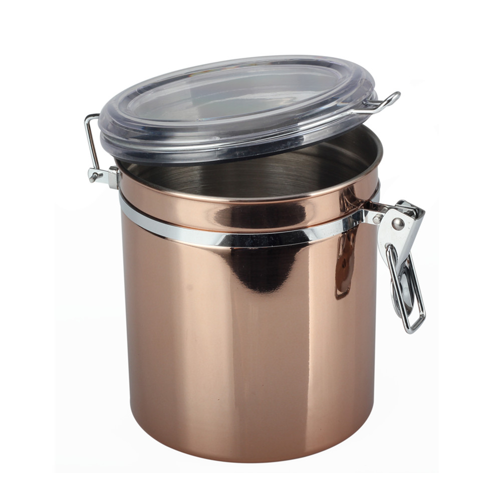 With Locking Clamp Coffee Canister