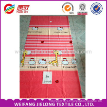 Le tissu de polyester 150d a imprimé le tissu 65gsm moins cher pour le drap