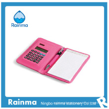 Mini Rechner in Leder Organizer Notebook